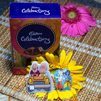 Chhota Bheem Kids Rakhi with Chocolates Pack