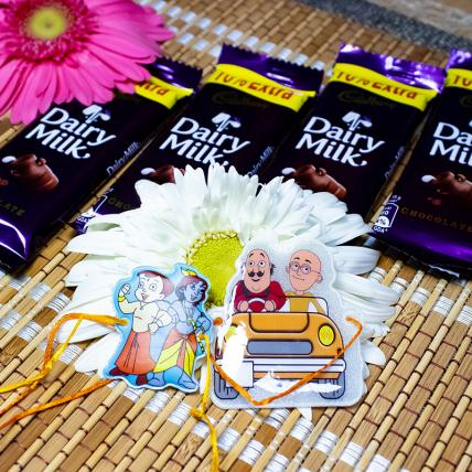 Chhota Bheem Rakhi Set With Chocolates