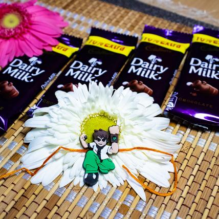 Ben 10 Rakhi With Chocolates