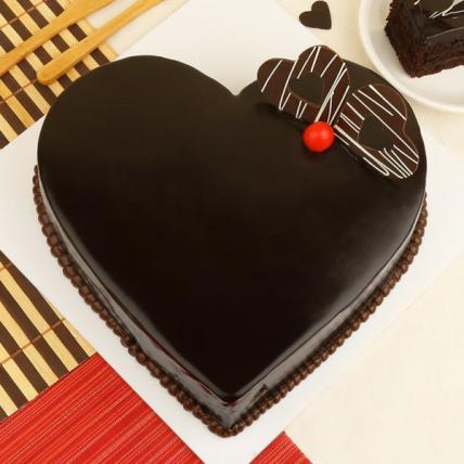 Heart Chocolate Truffle Cake