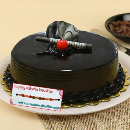 Ultimate Chocolate Truffle Cake with Rakhi