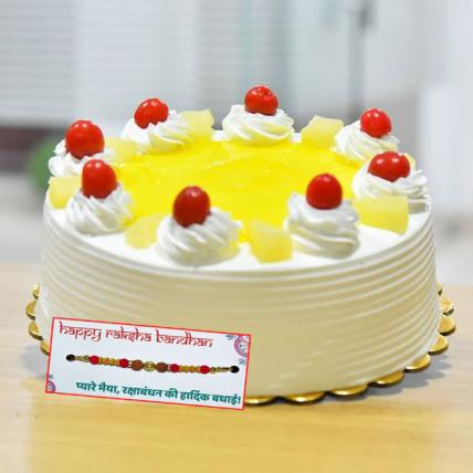 Pineapple Sensation cake With Rakhi