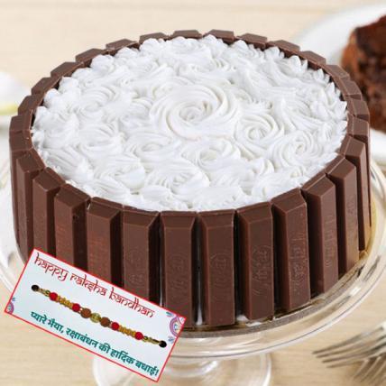 Kitkat Rose Cake with Rakhi