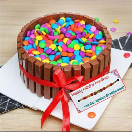 Kit Kat Cake with Rakhi