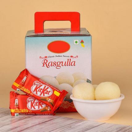 Rasgulla N Kitkat Chocolates