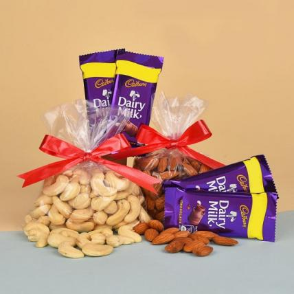 Dry Fruits N Dairy Milk Chocolates