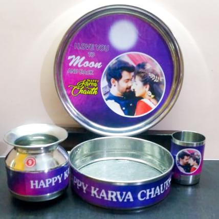 Personalised Karwa Chauth Set