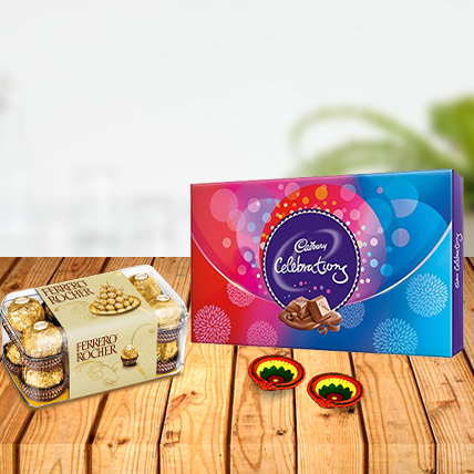 Ferrero Rocher with Cadbury Celebration & Diyas