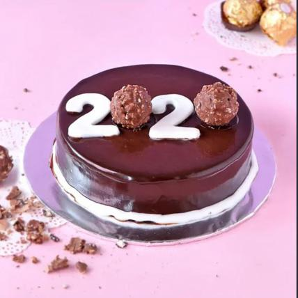 Happy New Year Ferrero Cake