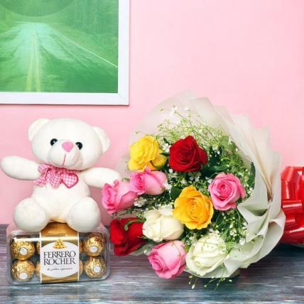 Valentine Mix Flowery Choco Combo