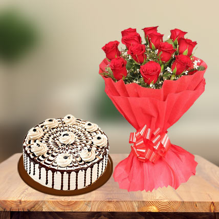Coffee Cake & Red Roses