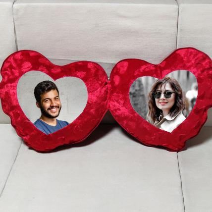 Personalised Open Close Heart Cushion