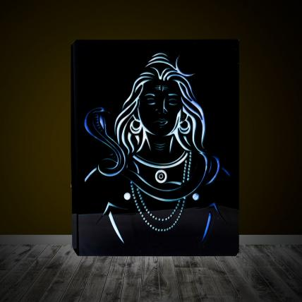 Neelkanth Shiva Face Lamp