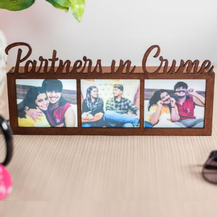 Partners in crime Bro Sis Photo Frame