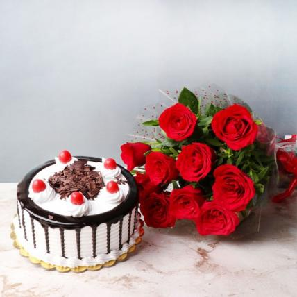 Roses and Blackforest Cake