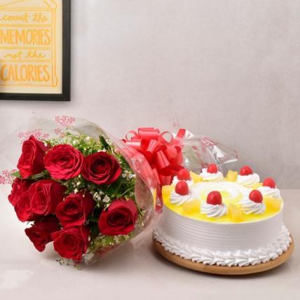 Pineapple Cake & Roses