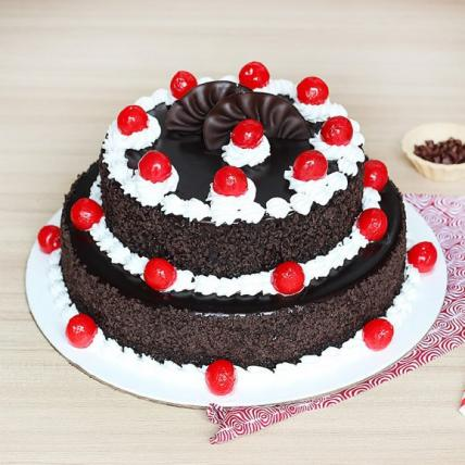 2 Tier Delicious Blackforest Cake