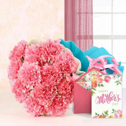 Mothers day Pink Carnation Bouquet