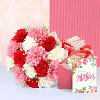 Mothers day Mix Carnation Bouquet
