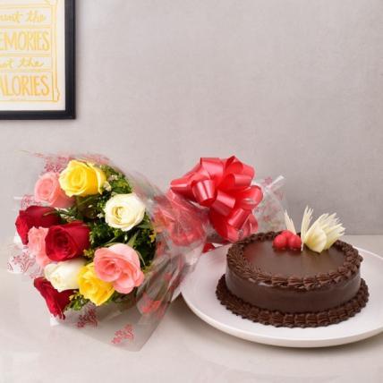 Fun Mix Roses & Choco Combo