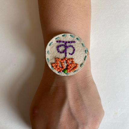 Beautiful Handmade Akshar Rakhi