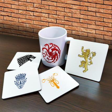 Games of Thrones Mugs and Coasters Combo