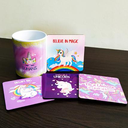 Unicorn Mugs and Coasters Combo
