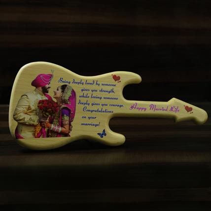 Guitar UV Wooden engraving Stand