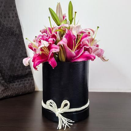 Beautiful Box of Pink Lilies