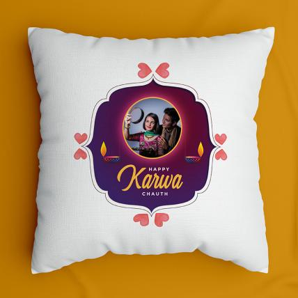 Happy Karwa chauth Cushion