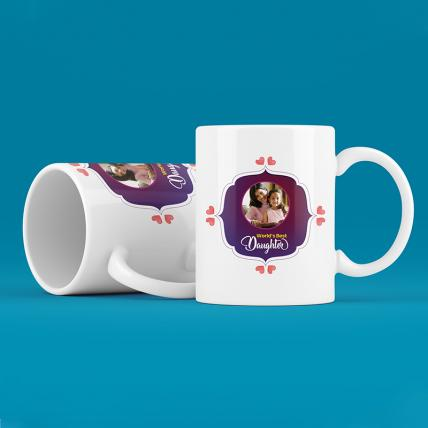 Personalised Worlds Best Daughter Mugs