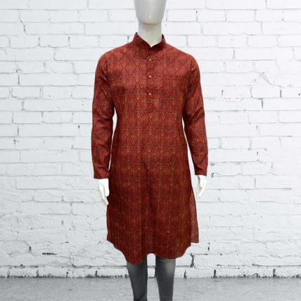 Beautiful Red Printed Cotton Kurta