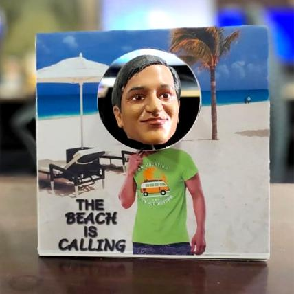 The Beach is Calling - 3D printed Bobblehead Frame