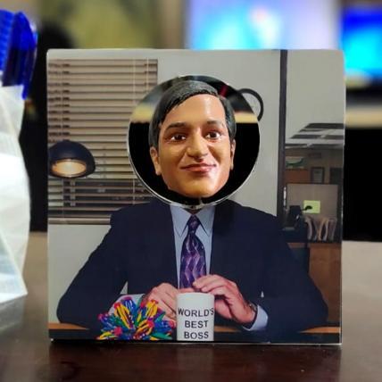 World Best Boss - 3D printed Bobblehead Frame