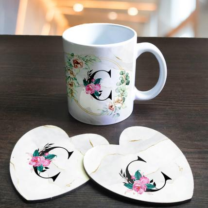 Personalised Initials Mug and coasters