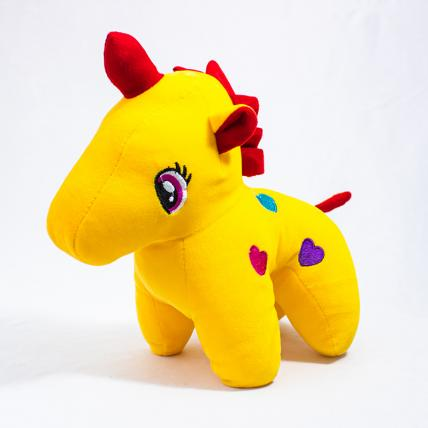 Yellow Unicorn Soft Toy