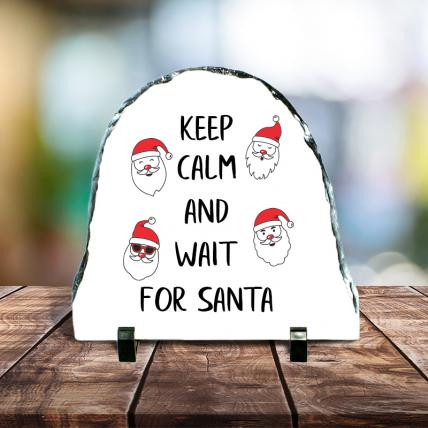 Keep Calm Christmas Stone Tile