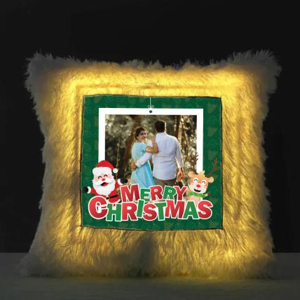 Merry Christmas LED Cushion