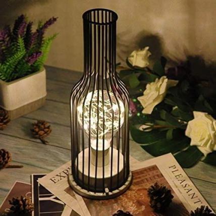 Wine Bottle LED Night Lamp (Hollow Iron)