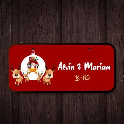 Christmas Reindeer Name Plate