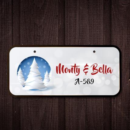 Christmas Name Plate