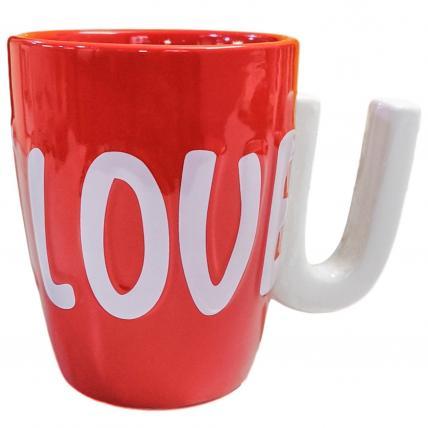 3D I LOVE U Coffee Mug