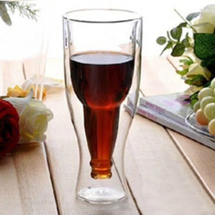 Inverted Double Wall Beer Glass