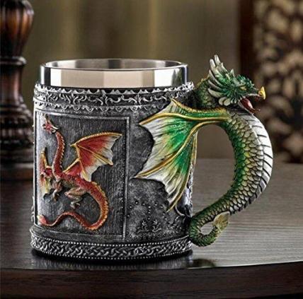 Gothic Dragon Tankard Beer Mug  Cup Medieval