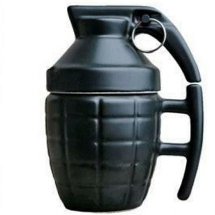 Grenade Unique Coffee Mug With Lid