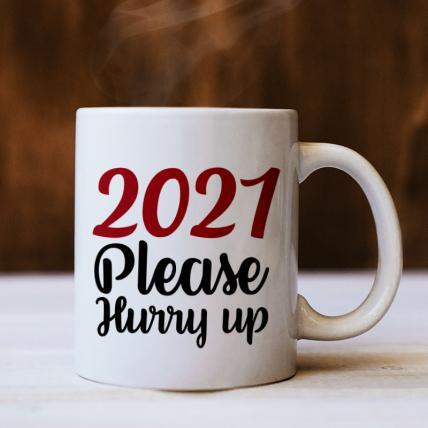 Hurry Up New Year Mug