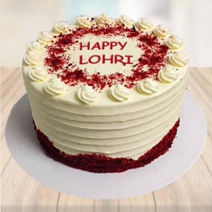 Happy Lohri Red Velvet Punch Cake