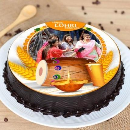 Personalised Lohri Celebration Cake