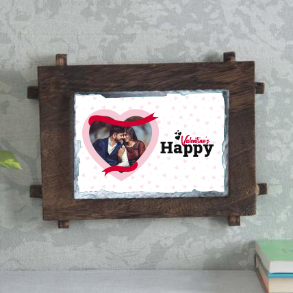 Happy Valentine Day Stone Frame