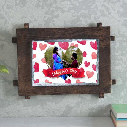 Personalised Valentine Stone Frame